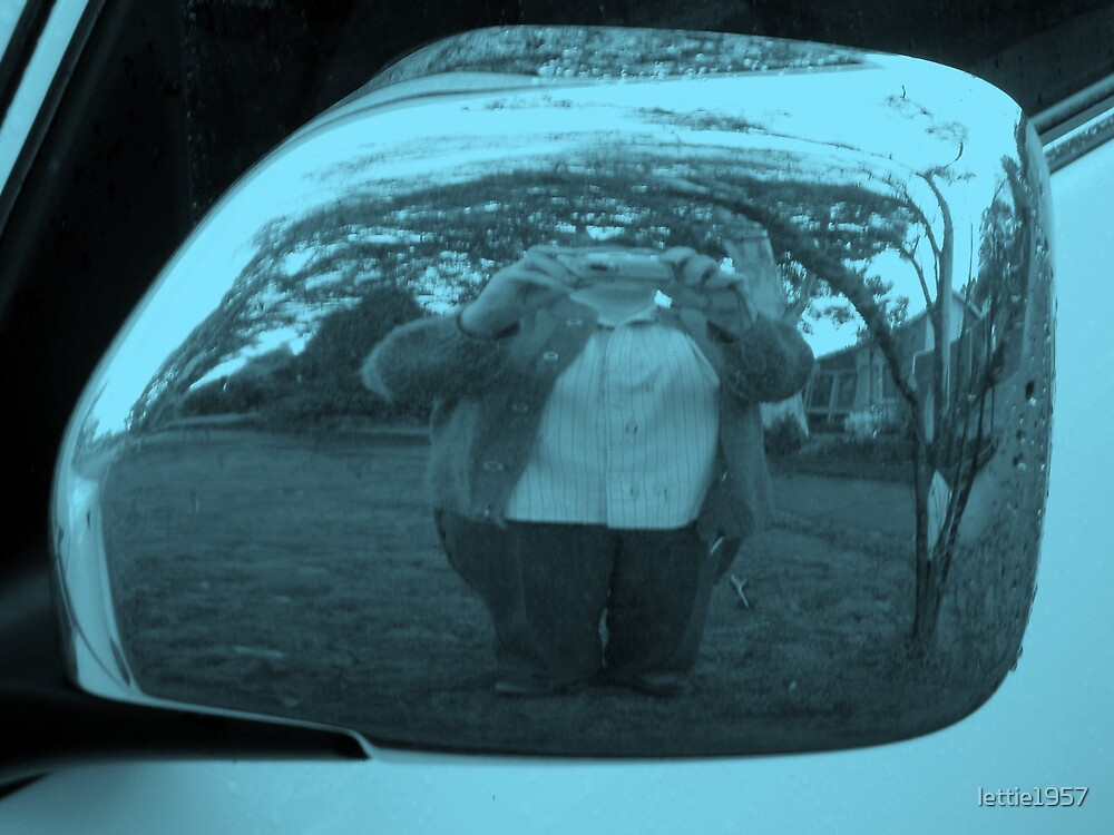 Self Portrait -  Through a Car Mirror by lettie1957