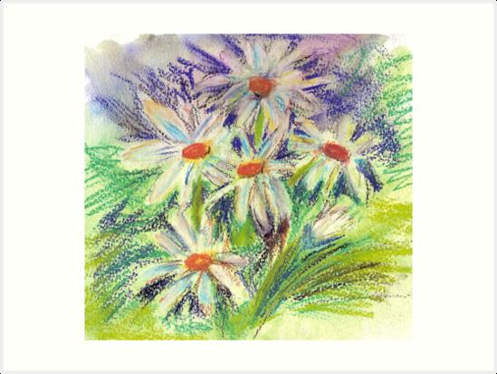 Daisies by purpleberries