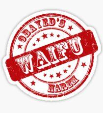 Obayed's Harem  Waifu Logo Sticker