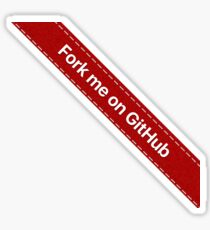 Fork me on Github Ribbon Red Sticker