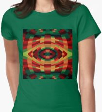 Red Green Yellow Op Pop Women's Fitted T-Shirt