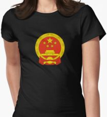 Emblem of the People's Republic of China Womens Fitted T-Shirt