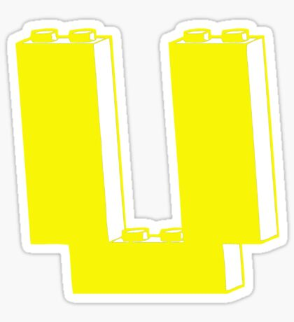 THE LETTER U, Customize My Minifig Sticker