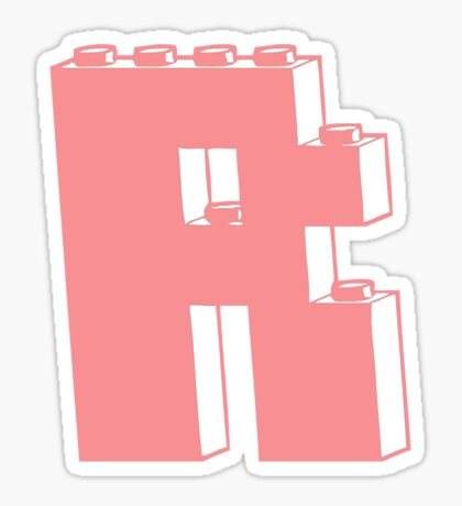 THE LETTER R, Customize My Minifig Sticker