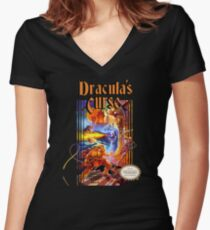 Castlevania - Dracula's Curse NES Women's Fitted V-Neck T-Shirt