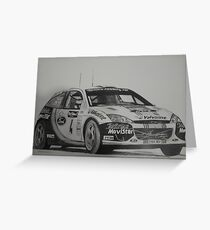 Ford Focus Rally 2002 Greeting Card