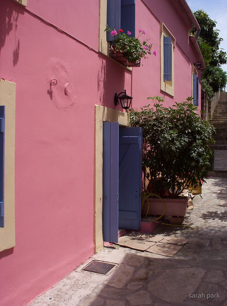 pink house in greece by sarah park