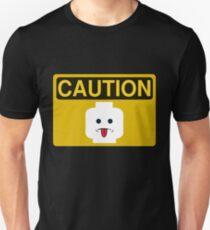 Caution Rude Minifig Head Sign Unisex T-Shirt