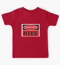 Danger Nerd Sign Kids Tee