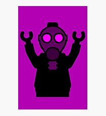 Apocalyse Minifigure wearing Gasmask Photographic Print
