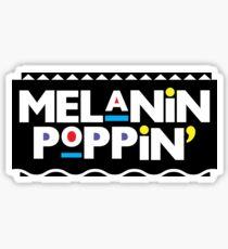 Melanin Poppin' Sticker