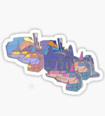 Liquid Pastel Artwork Suburb Sustenance Sticker