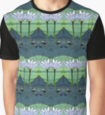 Water Lilies edited in watercolor Graphic T-Shirt