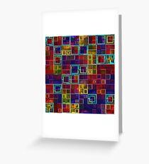 Shiny Futuristic  Squares Greeting Card
