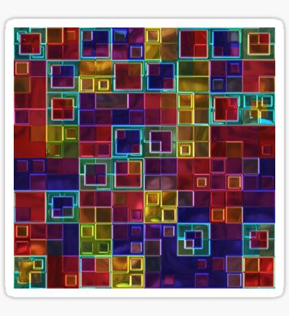 Shiny Futuristic  Squares Sticker