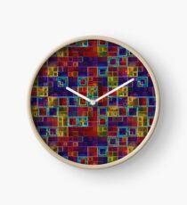 Shiny Futuristic  Squares Clock