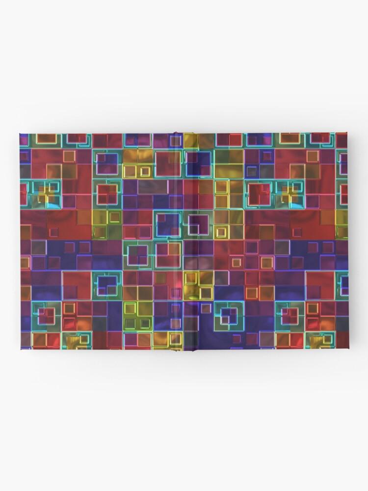Alternate view of Shiny Futuristic  Squares Hardcover Journal