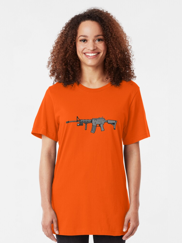 Alternate view of AR-15 Realistic Slim Fit T-Shirt