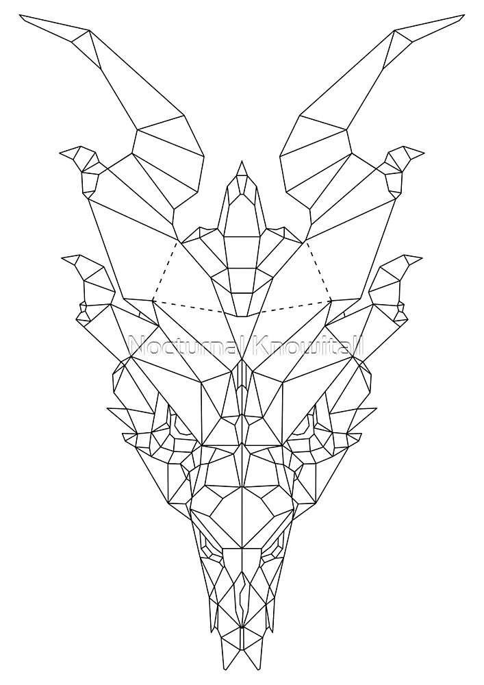 Geometric Dragon by Nocturnal Knowitall