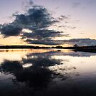 Tranquil Relaxing Reflections In Water by Mark Greenwood