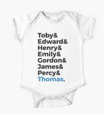 Thomas Name Shirt One Piece - Short Sleeve