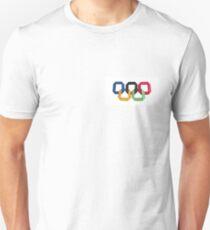 Origami olympic rings Unisex T-Shirt