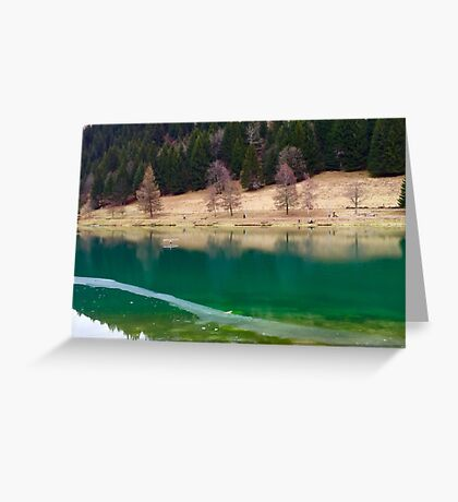 Winter Lake in Chatel Greeting Card