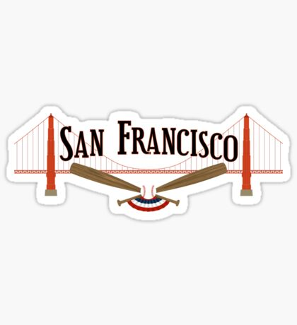 San Francisco Baseball Sticker