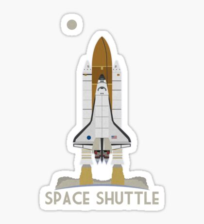 Space Shuttle Launch Sticker