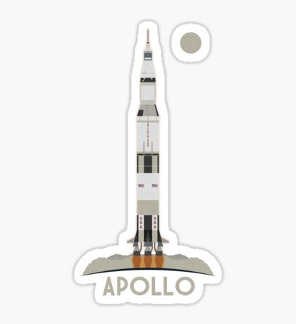 Apollo Launch Sticker