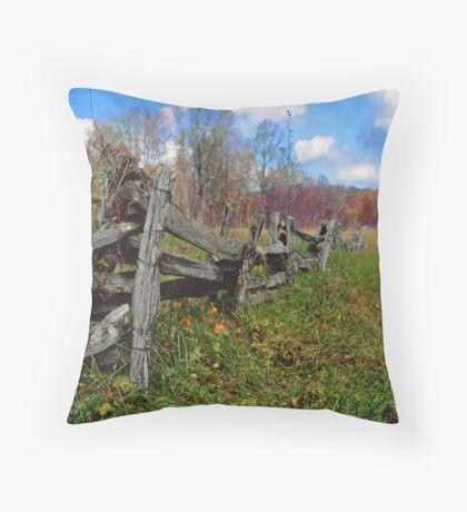 blueridge fence Throw Pillow