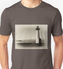Small old lighthouse in black and white T-Shirt
