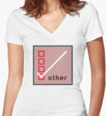 other Women's Fitted V-Neck T-Shirt
