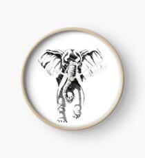 elephant wild Clock