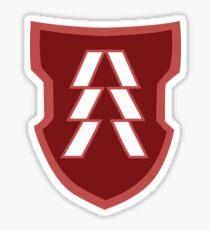 Hunter Crest [Red/White] Sticker