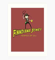 Finndiana Jones and the Temple of Ooo Art Print