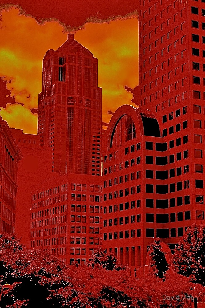 Seattle in Red by David Mann