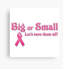 Breast Cancer Awareness- Cancer Shirts Canvas Print