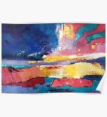 Original abstract oil painting on canvas:emotion Poster