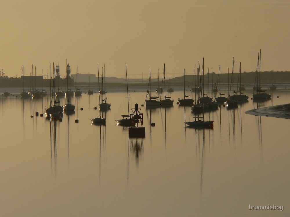 Yachts at Sunrise by brummieboy