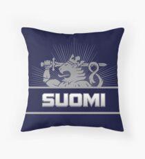 Suomi Finland Lion Throw Pillow