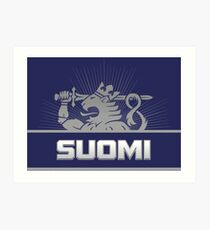 Suomi Finland Lion Art Print
