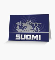 Suomi Finland Lion Greeting Card