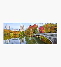 Bow Bridge Fall Photographic Print