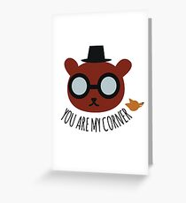 You are my corner - Night in the woods Greeting Card