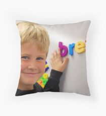 Brett in Kindergarden Throw Pillow
