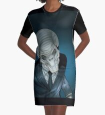 The Silent Command Graphic T-Shirt Dress