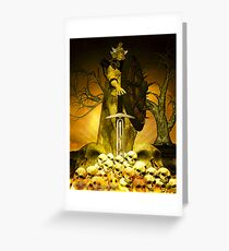 Demon Warrior Greeting Card
