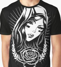 Black and White Graphic T-Shirt