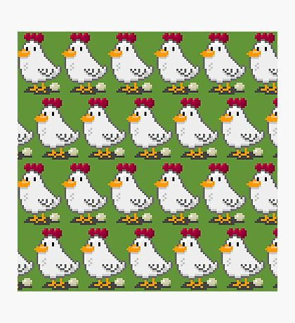 Pixel Chickens Photographic Print